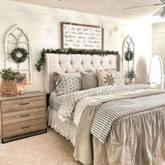 Farmhouse Small Bedroom Ideas - Comfortable, lovely, and full of charisma, farmhouse bedroom design is more famous than ever. Rustic Bedroom Design, Master Bedroom Design, Modern Bedroom, Contemporary Bedroom, Bedroom Designs, Master Suite, Bedroom Small, Minimalist Bedroom, Contemporary Kitchens