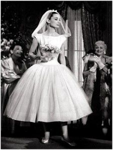 Audrey Hepburn wedding dress in Funny Face, with ballerinas and the veil this is plain perfect!