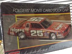 Monogram Tim Richmond FOLGERS #25 Monte Carlo NASCAR 1/24th Model Kit 1986 Rlse #Monogram