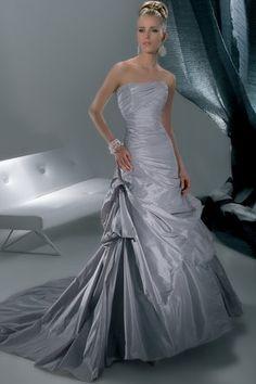 Demetrios - Sensualle - GR160  Gray/grey wedding dress