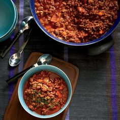 """Turkey-and-Pinto-Bean Chili   """"The turkey chili is a big favorite of Oprah's,"""" says Art Smith. """"It's got some spice, which I think kids love just as much as adults do."""""""
