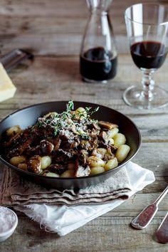 Truffled gnocchi with Mushroom Ragu
