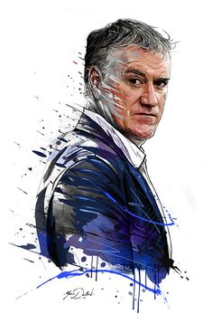 My painting of Didier Deschamps,coach of the french team soccer.