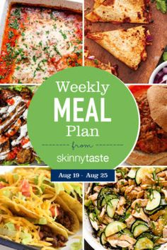 Skinnytaste Meal Plan (August A free flexible weight loss meal plan including breakfast, lunch and dinner and a shopping list. All recipes include calories and Weight Watchers SmartPoints®. Clean Eating, Healthy Eating, All You Need Is, Diet Recipes, Healthy Recipes, Healthy Meals, Delicious Recipes, Cooking Recipes, Keto