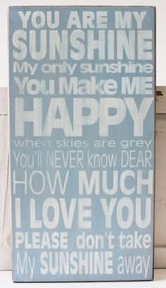 You Are My Sunshine Wood Block Sign - Popular Quotes and Sayings - California Seashell Company Exclusive Sign - #californiaseashellcompany, #caseashells, #youaremysunshine