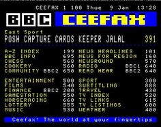 Teletext and Ceefax Like the internet, only NOT! lol