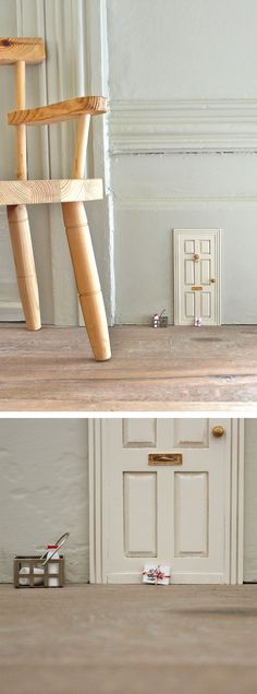 Install a little fairy tale door - such a cute idea!