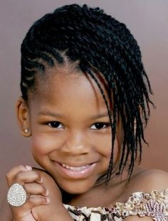 Cute mix of dreadlocks and cornrows for kids