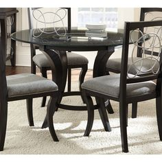 Greyson Living Calypso Glass-top and Black Dining Table - Overstock Shopping - Great Deals on Greyson Living Dining Tables