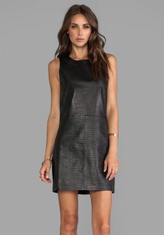 ELLIOTT LABEL Boss Leather Dress in Black - Leather Dresses