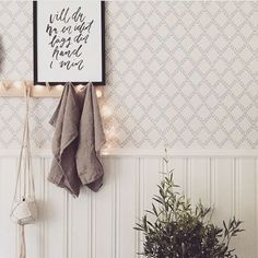 Hallway Wallpaper, Bathroom Wallpaper, Diy Home Decor, Room Decor, Modern Farmhouse Style, Cool Rooms, Entryway Decor, My Dream Home, House Design