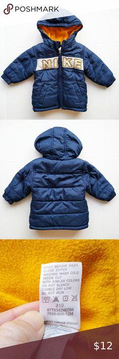 Nike Winter Coats, Nike Winter Jackets, Blue Line, Golden Yellow, Nike Logo, Nike Jacket, Plus Fashion, Fashion Trends, Hoods