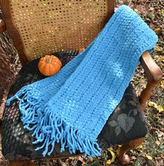 Crochet Neck Scarf, Soft, Warm, and Bulky Light Blue, Unisex, Long With Fringe,  Winter Wear, Great Gift Idea! by VeeSwan on Etsy