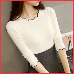 Winter Women Clothes knitting Sweaters Pullovers Undershirts Woman's tight slim Simple Bottoming shirt For Female Spring