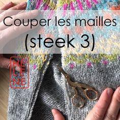 Couper les mailles (3) - steek traditionnel islandais sur mon pull lopi Gamaldags - Tricoteuse d'Islande - Hélène Magnússon