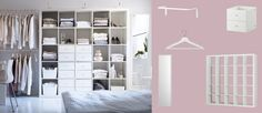 EXPEDIT white shelving unit with drawers and open storage compartments