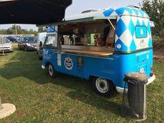 volkswagen t1 food-truck-tetto-alto blu-azzurro - 1