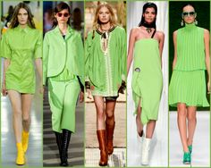 greenery, greenery design, greenery accessories, greenery diseñadores, greenery looks, greenery pantone, pantone