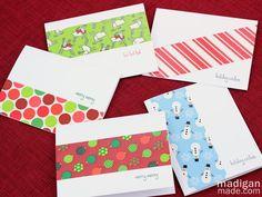 Duck tape handmade cards - tutorial at madiganmade.com