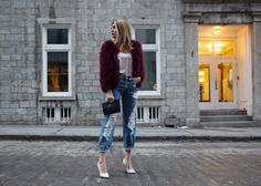 I put together a pastel pink and plum look in the spirit of Valentine's day.E than shades of pink and reds. Pastel Pink, Mom Jeans, That Look, Boho, Pants, Fashion, Trouser Pants, Moda, Trousers