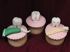 Fairy Cupcakes, Love Cupcakes, Vanilla Cupcakes, Cupcake Cookies, Cupcake Toppers, Cake Pops, Dental Cake, Tooth Cake, Cupcake Collection