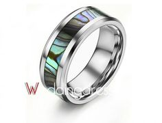 Natural Colorful Shell Matching Wedding Camouflage Rings for Sale