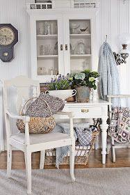 Shabby VIBEKE DESIGN: Vårlig ,lyst og blått i stuen !
