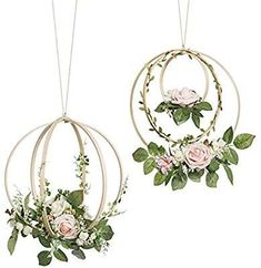 Ling's moment Floral Wreaths Set of 2 Blush Rose Artificial Flower Wreaths for Wedding Backdrop Hanging Decor Wedding Wreaths, Wedding Decorations, Tree Wedding, Wedding Greenery, Wedding Ceremony, Wedding Decor Rentals, Diy Wedding, Wedding Flowers, Greenery Decor