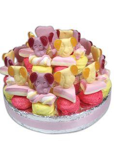 Peuter Snoeptaart Meisje (20 pers) Kids Party Treats, Birthday Treats, Party Snacks, Frozen Bday Party, Little Presents, Fruit Snacks, Diy Cake, Food Inspiration, Kids Meals