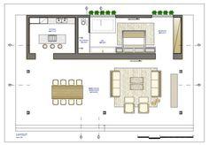 Design And Construction Modern Glass House Floor Plans Plano De Casa Pequena Modern Glass House, Modern House Facades, Modern House Plans, Modern House Design, House Floor Plans, Interior Architecture, Casa Farnsworth, Design Bauhaus, Bungalow