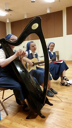 Sisters of St. Paul practicing for a Christmas Recital