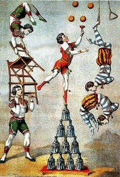 Acrobats, 1870
