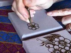Henna Application on Canvas
