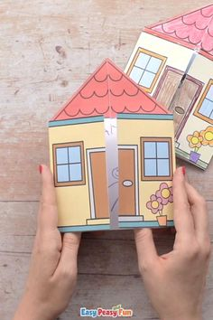 Paper Crafts Origami, Paper Crafts For Kids, Craft Activities For Kids, Preschool Crafts, Fun Crafts, Craft With Paper, Preschool Family Theme, Color Paper Crafts, Diy Paper