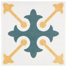 SomerTile 7.75x7.75-inch Renaissance Spectrum Ceramic Floor and Wall Tile (Case of 25) - Overstock™ Shopping - Big Discounts on Floor Tiles