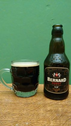 Bernard Cerny Lezak 12, A dark lager from the Bernard Family Brewery. Although dark and bitter like a stout it is still very light in body like a lager. It has a very strong bitterness to it which makes it stand out.