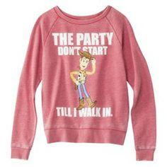 Disney Juniors Toy Story Sweatshirt - Washed Red from Target. Saved to Things I want as gifts. Disney Sweatshirts, Cute Sweatshirts, Cute Shirts, Disney Outfits, Cute Outfits, Disney Clothes, Disney Fashion, Toy Story Shirt, Junior Shirts