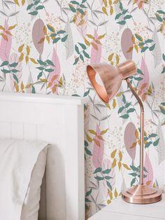 #peelandstick #wallpaper #adhesivedecor #adhesiveproducts #temporaryhomeupgrades #temporaryupgrades #rentershacks #rentersideas #homedecorideas #diyprojects #removablewallpaper Leaves Wallpaper, Peel And Stick Wallpaper, Pink Leaves, Home Upgrades, Pattern Wallpaper, Diy Projects, Fancy, Color, Home Decor
