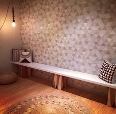 Now that's a beautiful new yoga studio entrance way with our Dandelion Weave rug | See more at www.armadillo-co.com