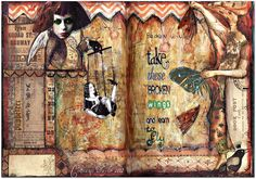 mixed media journal pages - Google Search