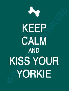 Keep Calm and Kiss Your Yorkie any breed by PostersPersonalized,