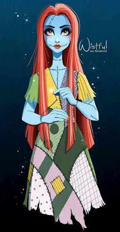 Se a Sallie fosse uma princesa da Disney. Tim Burton Kunst, Tim Burton Art, Disney Fan Art, Disney Love, Disney Magic, Disney Films, Disney And Dreamworks, Disney Pixar, Sally Nightmare Before Christmas