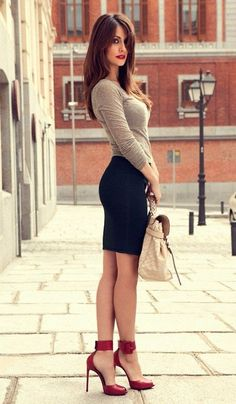Simple and sexy outfit.