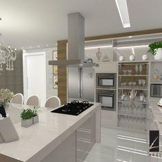 Cozinha Moderna com Inspirações Clássicas de Cozinha gourmet de Larissa Reis - Viva Decora