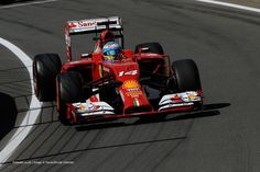 Fernando Alonso, Ferrari, Silverstone, Friday practice, 2014