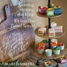 Coming March 15th! Mary & Martha's NEW Tiered Server! Book your March event with me to earn this with your hostess rewards!! And have a chance for a FREE Chalkboard Tray! www.mymaryandmartha.com/MARA