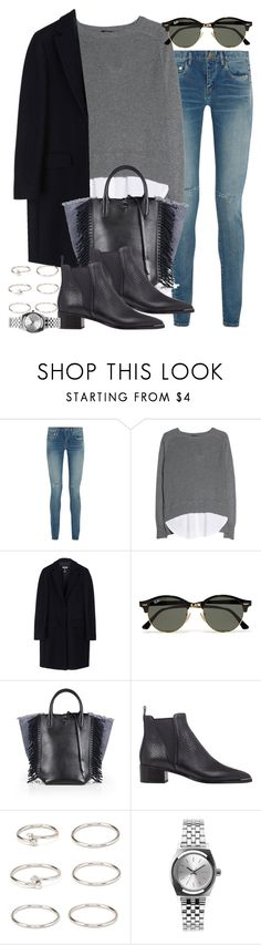 """Sin título #3869"" by hellomissapple on Polyvore featuring moda, Yves Saint Laurent, MANGO, MSGM, Ray-Ban, 3.1 Phillip Lim, Acne Studios, Forever 21 y Nixon"