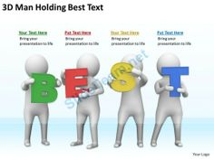 3D Man Holding Best Text Ppt Graphics Icons Powerpoint #Powerpoint #Templates #Infographics