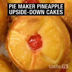 Pineapple Dessert Recipes, Dessert Cake Recipes, Pie Recipes, Cooking Recipes, Desserts, Recipies, Breville Pie Maker, Pineapple Upside Down Cake, Pineapple Cake