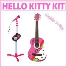 @Overstock - The Hello Kitty microphone stand with microphone and pink acoustic guitar set is designed to get kids up and rocking. The guitar in this educational toy features a steel-reinforced neck, and an all-wood construction.http://www.overstock.com/Sports-Toys/Hello-Kitty-Pink-Microphone-Stand-with-Microphone-and-Acoustic-Guitar-Set/6610876/product.html?CID=214117 $89.99    Sicilys next bday gift?.... Maybe!!